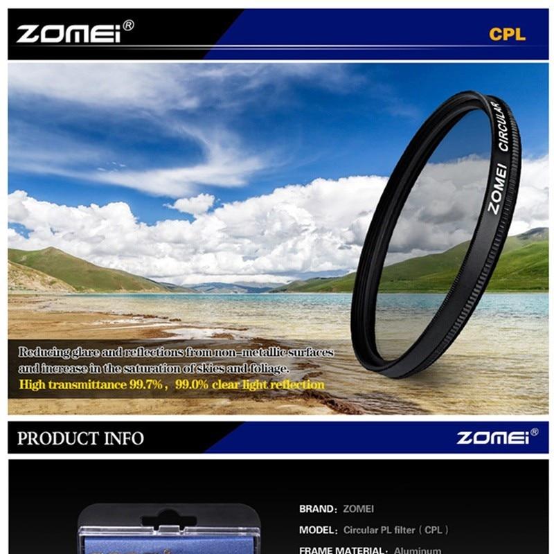 font b ZOMEI b font Ultra Slim AGC Optical Glass PRO CPL Circular Polarizing Polarizer