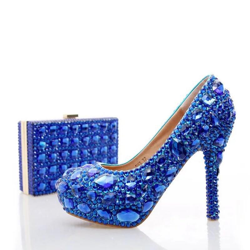 Embrague Bolso Rhinestone Nupcial La A 12cm Zapatos Con Partido Azul Cristal 10cm Moda Prom 14cm Bombas Boda Heels Tacones Juego Señora Altos De blue Heels Blue 6wqdZWZ8x