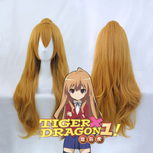 TIGER DRAGON Toradora! Aisaka Taiga Cosplay Wigs for Women 80cm Long Curly Wavy Female Synthetic Fake Hair
