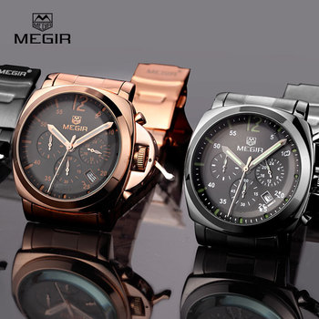 stainless steel waterproof quartz watch for men 5