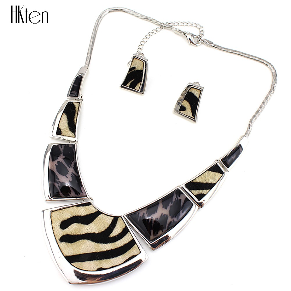 ms20391 модные леопард цепочки и ожерелья комплект старинные комплект ювелирных изделий анти проблемка Oval дизайн подарок партии высокое качество бесплатная доставка