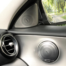 цена на Car-styling Door Stereo Speaker decoration decals auto Tweeter trim strips covers For Mercedes Benz New E class W213 2016-2017