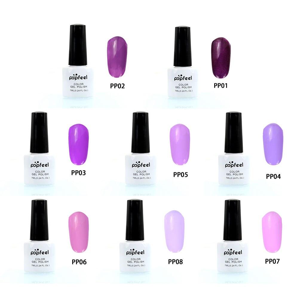 Stylish Purple Color Nail Polish Gel Lacquer Enamel Liquid
