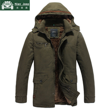 2018 Winter Parkas Men Thick Coats Jackets Casual Fashion Wool Liner W
