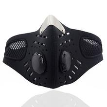 Хлопок PM2.5 анти дымке маска дыхание клапан рот маска Anti-пыль угольный фильтр респиратор рот муфельной черный маска для лица