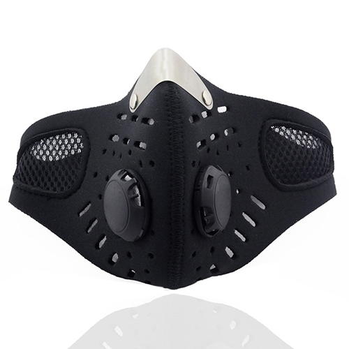 Masks Personal Health Care 5pc Otton Pm2.5 Anti Haze Mask Breath Valve Anti-dust Mouth Mask Activated Carbon Filter Respirator Mouth-muffle Black Mask Face