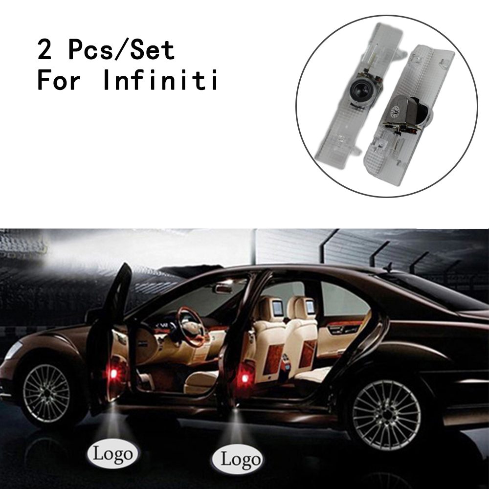 Only For Infiniti JX35/Nissan/Teana LED Courtesy 2Pcs/Set 1W Lens Include With Logo Ghost Shadow Projetor