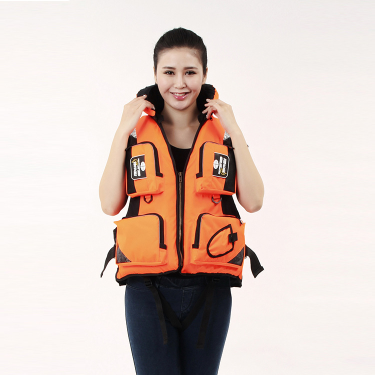 ФОТО Women and Mens Water Rafting Outdoor Sports Anti-Drowning Sea Fishing Survival Fishing Vest Multi-Pocket Adult Life Jackets