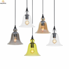 Nordic Retro Pendant Lights Simple Color Glass Lampshade Pendant Lamp Restaurant Bar Single-head Hanging Hanglamp Lamps Fixtures