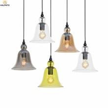 цена на Nordic Retro Pendant Lights Simple Color Glass Lampshade Pendant Lamp Restaurant Bar Single-head Hanging Hanglamp Lamps Fixtures