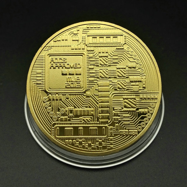 Bitcoin Physical Gold Plated Coin 3