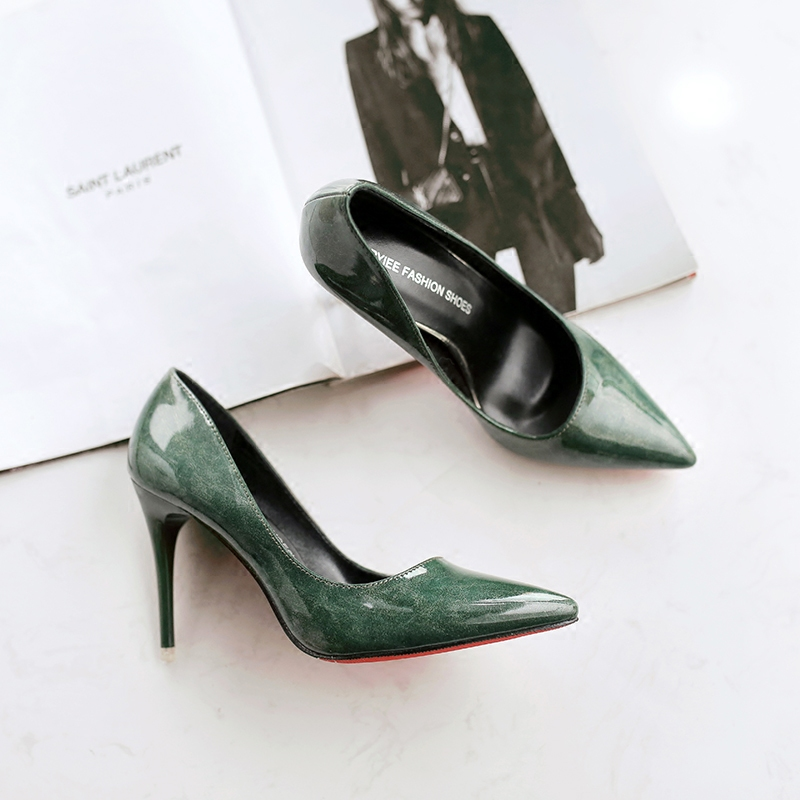 soft high heels patent leather shoes sandals fashion