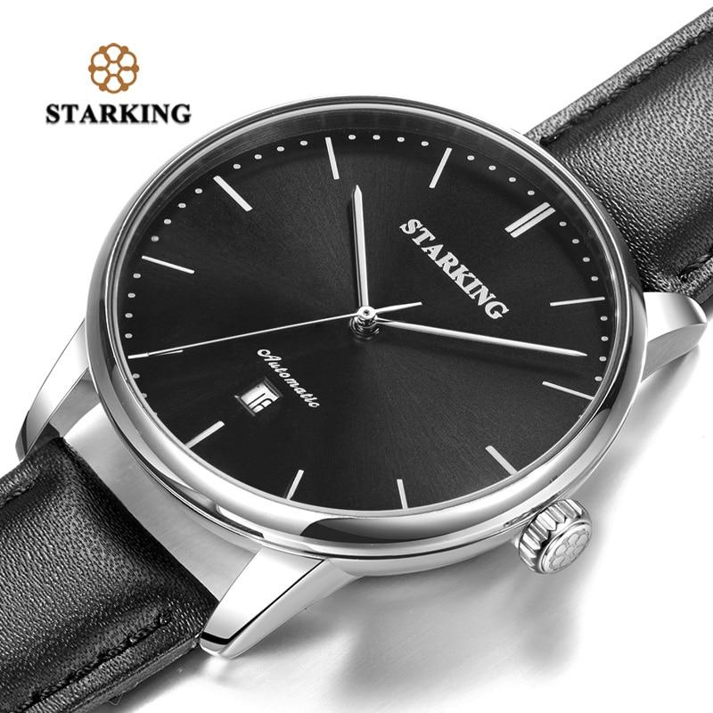 STARKING marque de luxe pas cher montre mécanique automatique Date automatique Auto-vent mâle horloge 28800 haute battre montre Relogio Sport TM0915 - 5