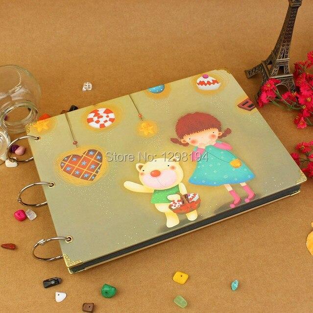 DIY Fotoalbum Scrapbook Papier Handwerk für baby bild babyhochzeitsabbildungs-fotographienaufkleber Kostenloser versand