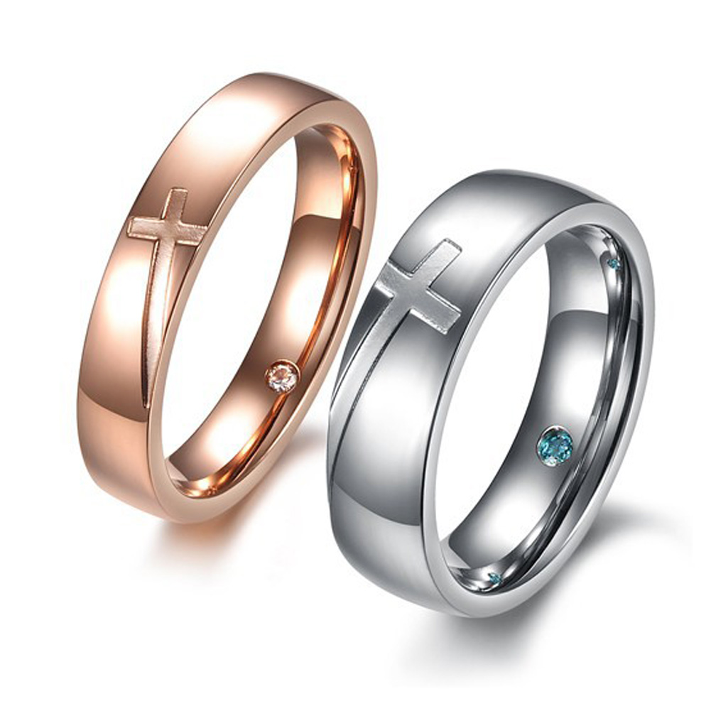 1pc Unique Anium Stainless Steel Rhinestone Rings Wedding Cross Band Ring In From Jewelry Accessories On Aliexpress Alibaba Group