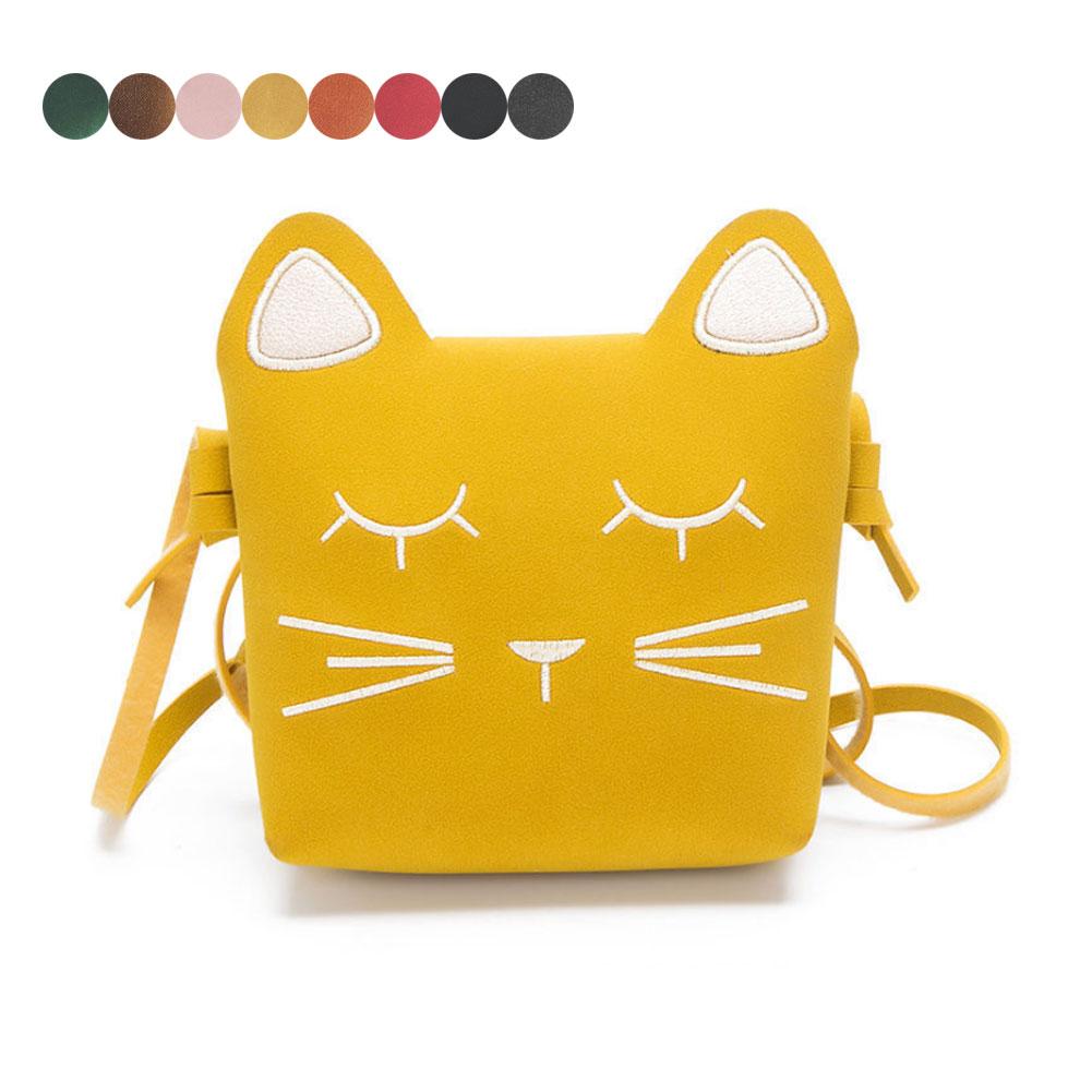 new-fashion-christmas-gift-children-girls-cute-cat-bag-coin-purse-handbag-sweet-ladies-pu-leather-small-shoulder-bags-popular