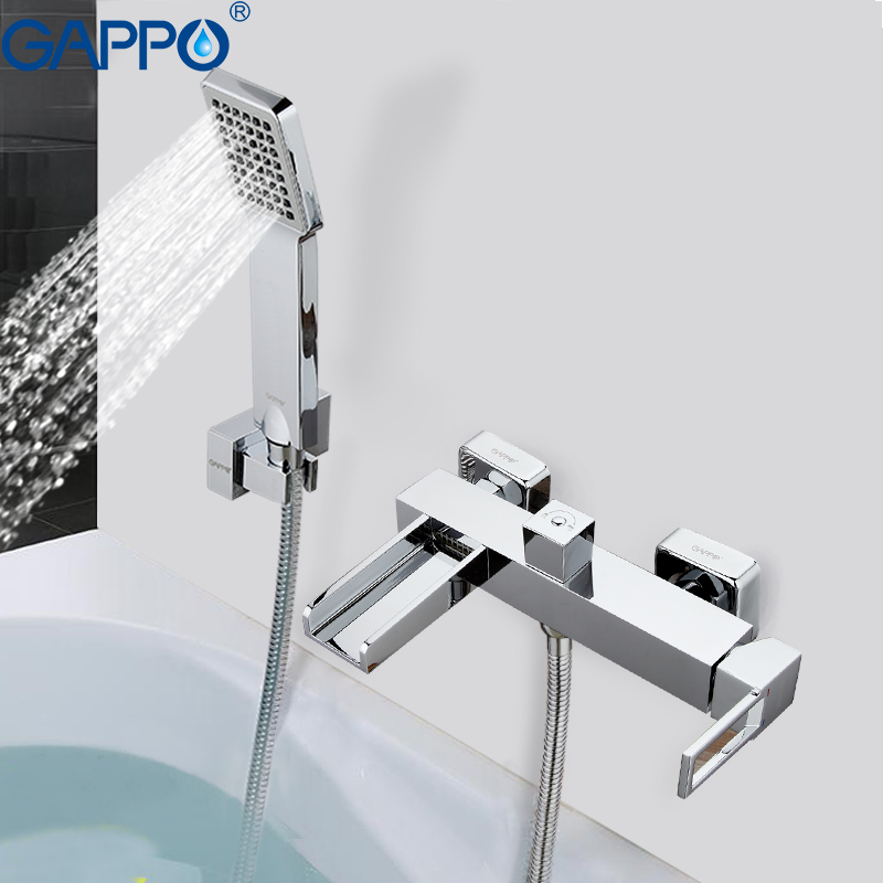 GAPPO shower system Bathtub Faucets bathroom faucet bath mixer taps wall mounted Brass bath tub faucet bath mixer sink faucet free shipping polished chrome finish new wall mounted waterfall bathroom bathtub handheld shower tap mixer faucet yt 5333