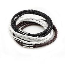 Новинка, модный плетеный кожаный браслет из ПУ кожи, мужской браслет для женщин, ювелирные изделия, многослойный кожаный браслет с застежками