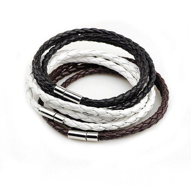 2016 Новая Мода ПУ плетеный кожаный браслет Для мужчин браслет для Для женщин ювелирные изделия Многослойные Кожаный застежками Шарм Браслет