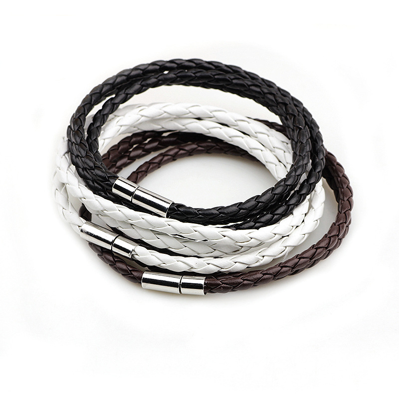 2016 New Fashion PU Braided Leather Bracelet Men Bracelet for Women Jewelry Multilayer Leather Clasps Charm Bracelet