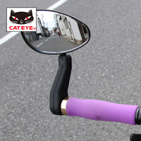CATEYE Bike Mirrors Left & Right MTB Road Bicycle Handlebar Rear View Mirror Adjustable Cycling Safe Mirror Bicycle Accessories