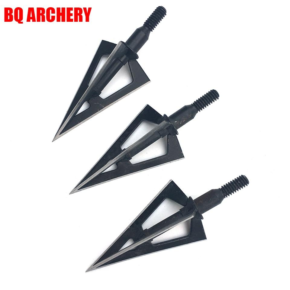 3//6PCS Archery 100 Grain Broadheads Arrow Tips Points Arrowhead Bow Hunting