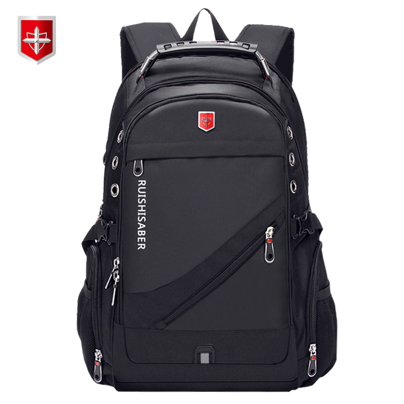 Oxford Swiss 17 Inch Laptop Backpack Men USB Charging Waterproof Travel Backpack Women Rucksack Male Vintage School Bag mochila(China)