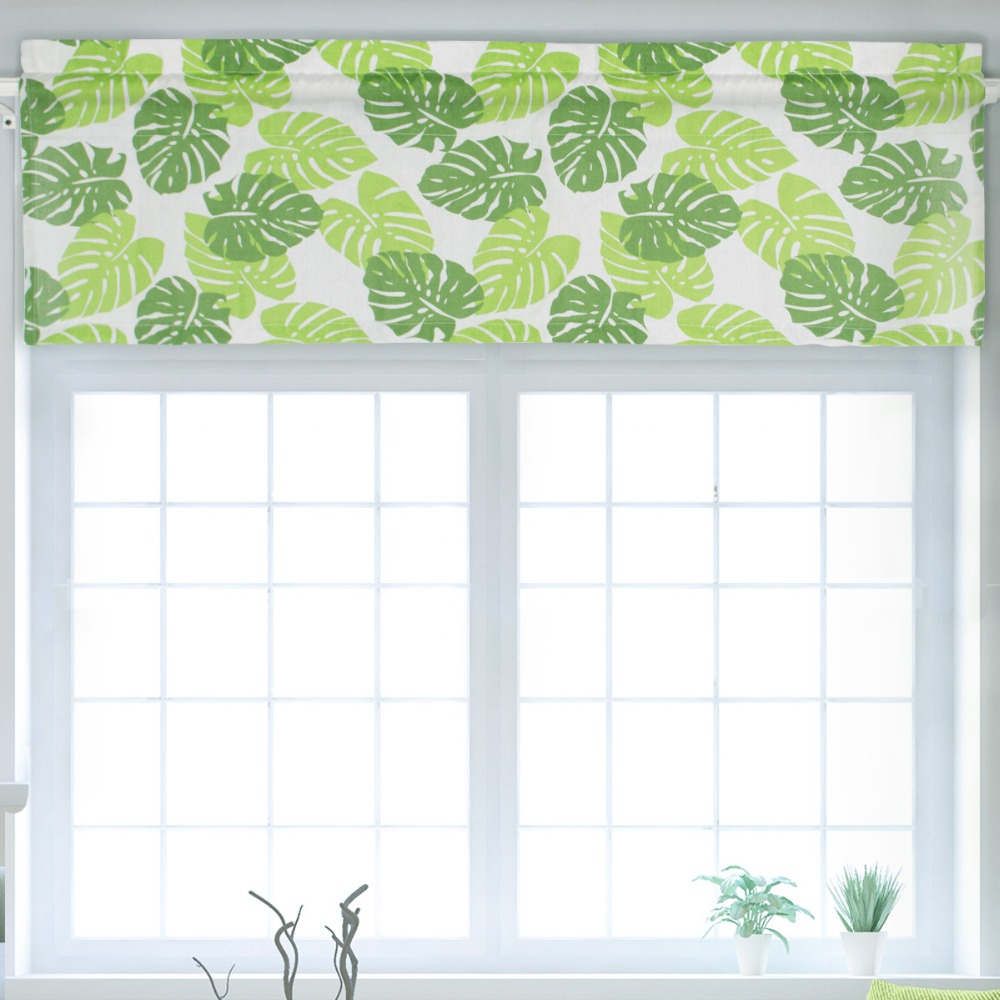 Window Treatments Objective Green Plant Print Cafe Curtains Dust-proof Curtains Short Curtains For Kitchen Window Drape Home Decoration Cloth Fabric Dl024&3 100% High Quality Materials Home & Garden