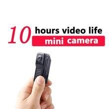10 horas de trabalho Mini DV Camera Mini DV Ação DVR Filmadora com Microfone Embutido Micro Cam de Vídeo Gravação de Áudio pk sq8 sq12
