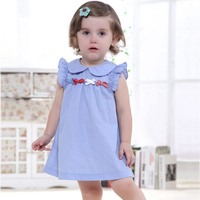 Baby Girls Dress Summer Cotton Thin Dresses Fashion Brand Kids Dress Children Clothes 18moth 3 Yrs