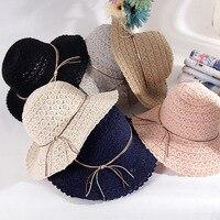 2018 Lady Fashion BEACH Cap Female New SUMMER Stripe Ladies Fashion Small Hat Wool Hat Basin