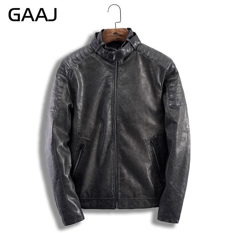 Chaquetas H9a10 Gris gris Hombre Chaqueta Hombres Casual Otoño Marca  Invierno Moto Negro Gaaj Ropa Negro ... a8e3ced43f7