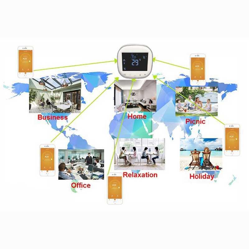 Wi-fi Pressscreen Termostato Programável Controlador de Temperatura Elétrico/Watring Piso Aquecimento Termostato Compatível Com Goo #8