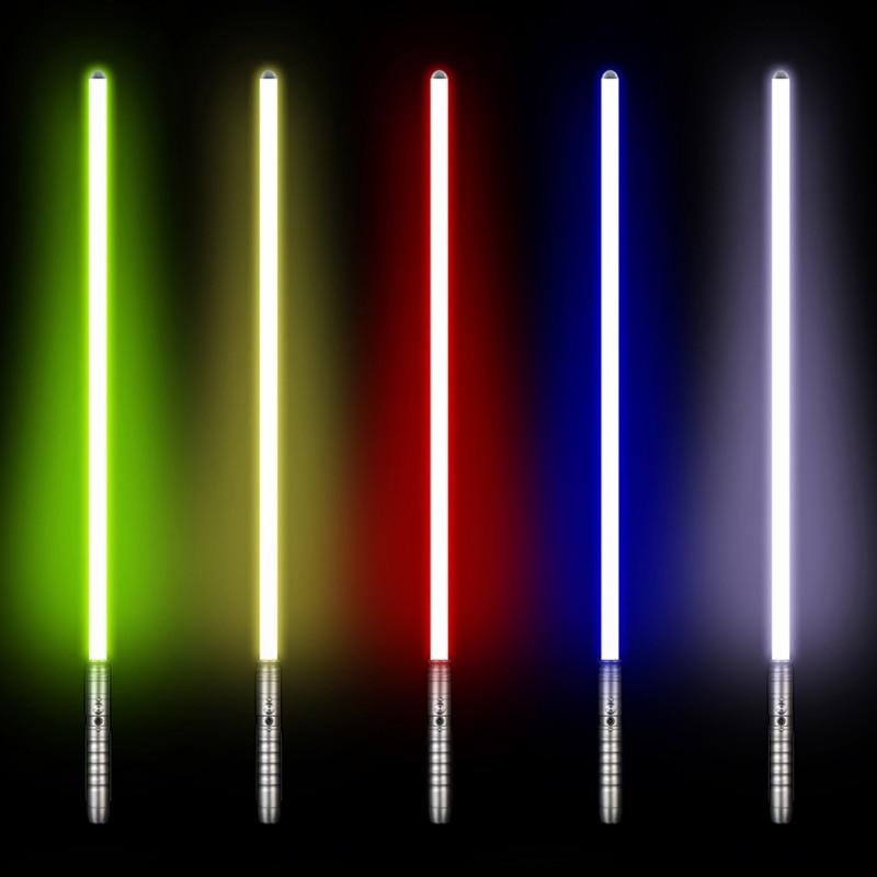 LGT Cosplay sable láser Luke skywalker sable de luz Jedi Sith láser fuerza FX pesado duelo fuerte sonido de alta luz con FOC - 2