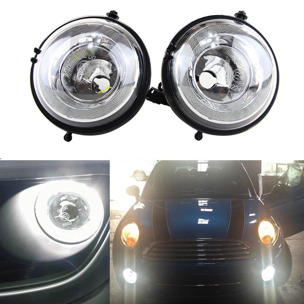 LED feux de brouillard LED feux de jour DRL boîtier de Position de pare-chocs avant pour MINI Cooper R55 R56 R57 R58 R59 R60