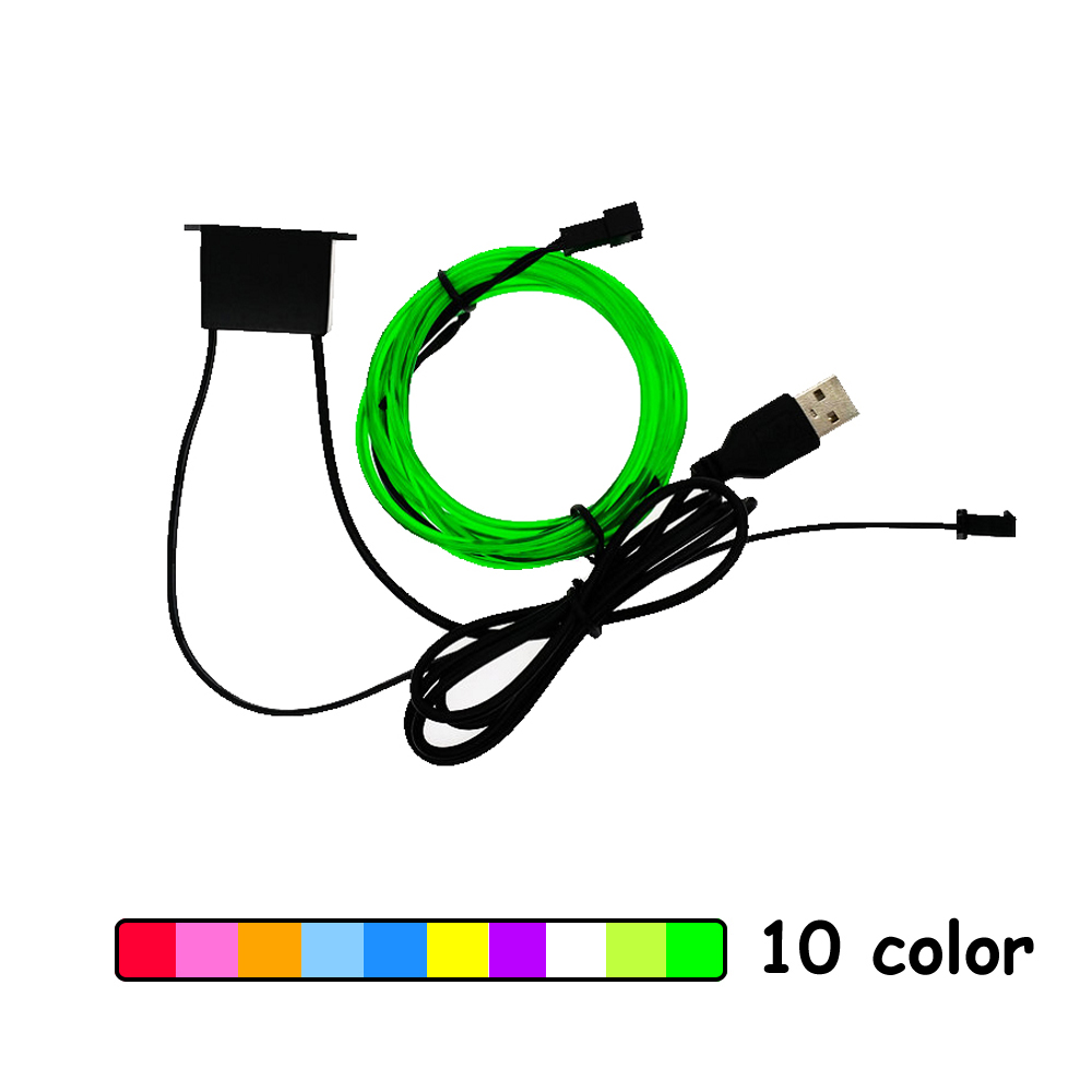 5V USB Neon Lights Dance Party Car Decor Light Neon LED lamps Flexible EL Wire Rope Tube Waterproof LED Strip