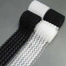 Резинка 50 мм черно-белая эластичная лента черно-белая кружевная сетчатая одежда платье для девочек Женская одежда для шитья ручная работа 1 м