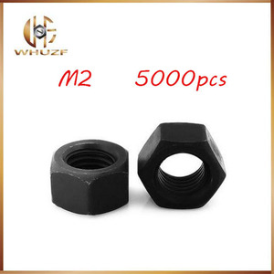 Image 1 - 5000pcs Stainless Nut M2 High Strength Carbon Steel Grade 8 Black Hex Nutsert 100% New Hex Nutstainless bolts,nails,riveter