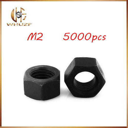 5000pcs Stainless Nut M2 High Strength Carbon Steel Grade 8 Black Hex Nutsert 100% New Hex Nutstainless bolts,nails,riveter