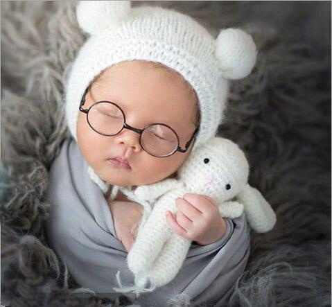 76893974e60 Detail Feedback Questions about Newborn Cute Animals Crochet baby costume photography  props mohair hat+sheep lamb doll infant photo props accessories 0 1 on ...
