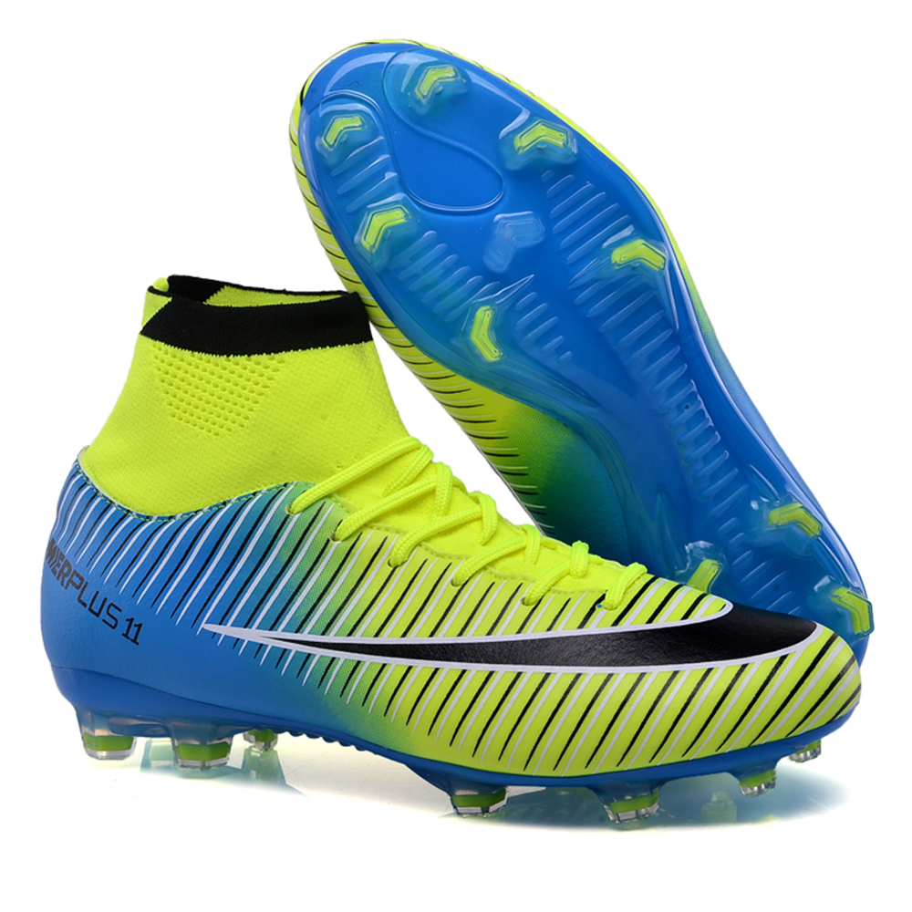 da4955b7afa High Ankle Football Boots Superfly V 5 Original Soccer Shoes Men CR7 Cleats  FG Chuteira Futebol Profissional Scarpe Da Calcio-in Soccer Shoes from  Sports ...