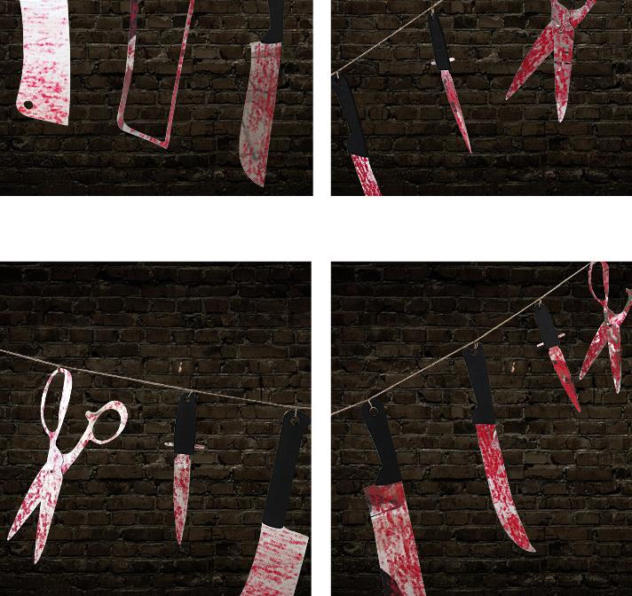 halloween prop haunted house decor torture bloody body tools severed body parts garland banner gory party hanging decorations - Gory Halloween Decorations
