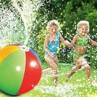 75CM Inflatable Spray Water Balloons Beach Ball Outdoor Toy Lawn Water Pool Game Summer Toys For Kids