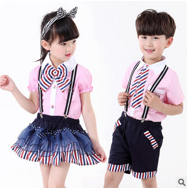 Kids boys short-sleeved suit 2017 new summer children's cotton casual T-shirt big virgin piece shorts girls clothes 2-14 years 2 beanbus summer children s t shirts for boys casual t shirt o neck printing cartoon cotton boys short sleeved t shirt boy clothes