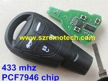 Neue Smart-Remote-Key 433 Mhz PCF7946AT für SAAB 9-3 93 2003-2010 LTQSAAM433TX