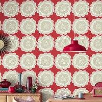 Tasarımcı Büyük Çiçek Çiçek Duvar Kağıdı Rulo Modern Kırmızı Gri Çiçek Arka Plan Duvar Kağıdı Koridor Odası Wallcovering Çocuk Odası