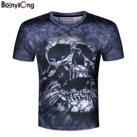 Hot 2017 New Men Women Space Printed Creativ T Shirt 3D Fashion And Skulls Knitted Blouse