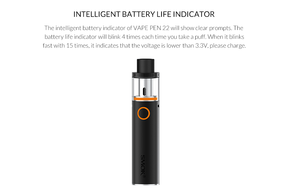 Original SMOK Vape pen 22 Kit Built in 1650mAh battery+0 3ohm/0 15ohm Mesh  Coil electronic cigarette smok vape pen kit vs stick