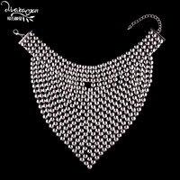 Dvacaman Marka Maxi Bib Naszyjnik Duże Metalowe Oświadczenie Naszyjnik Biżuteria Akcesoria Bijoux Femme Hurtowa Przetwórni PP81