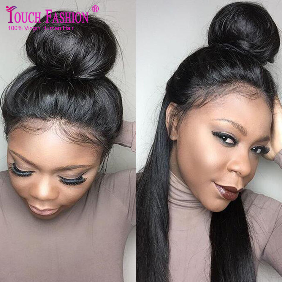Top Quality High Ponytail Full Lace Wigs Silky Straight Virgin Lace Front Wig Affordable Malaysian Full